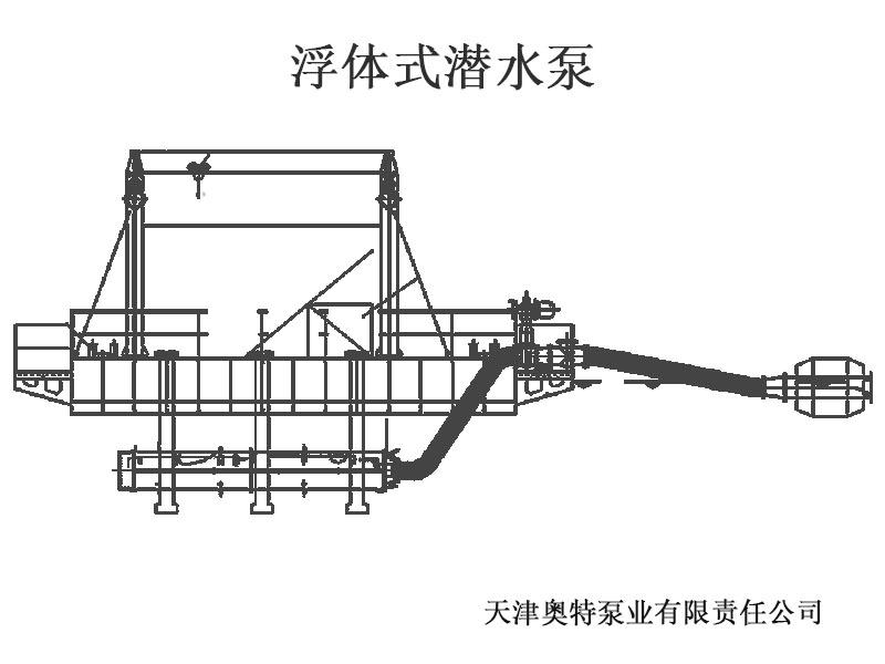 礦坑、湖泊等大型水域:排/取水浮體式潛水泵方案